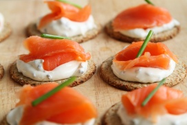 canapés and salmon