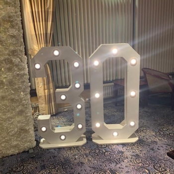 giant light up numbers