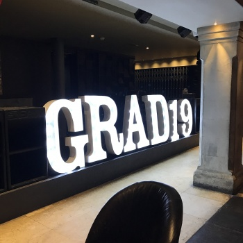Grad 19 light up letters