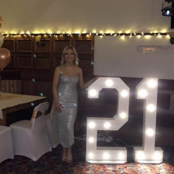 4.5 foot LED numbers